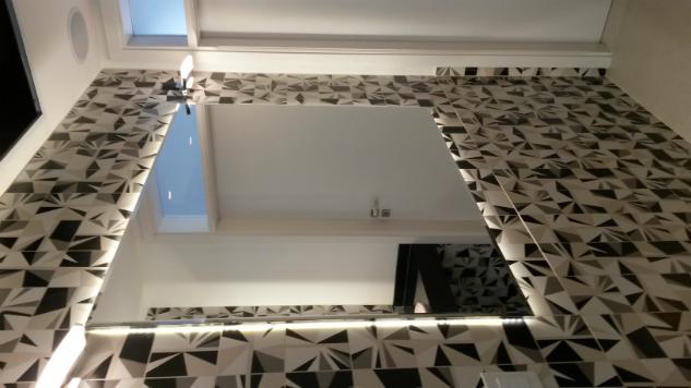 espelho com fita de led