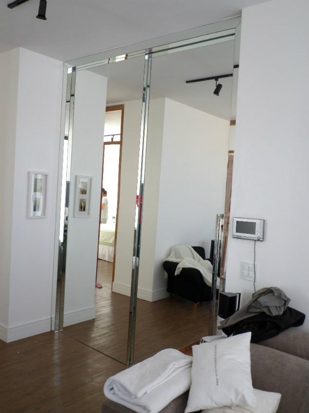 Porta Revestida de espelho